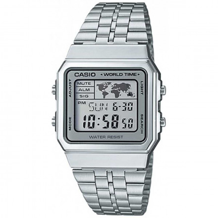 ed84e99fba4f Relógio Casio Unisex Vintage World Time A500WA-7DF